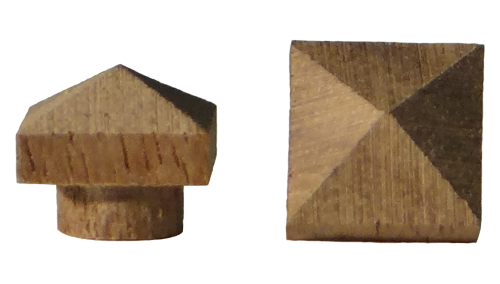 small pyramid top plugs